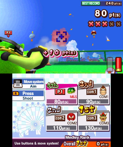 Screenshot for Mario & Sonic at the London 2012 Olympic Games on Nintendo 3DS- on Nintendo Wii U, 3DS games review