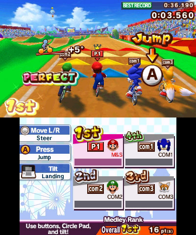 Screenshot for Mario & Sonic at the London 2012 Olympic Games on Nintendo 3DS - on Nintendo Wii U, 3DS games review