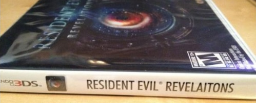 Image for Resident Evil: Revelations Box Typo?