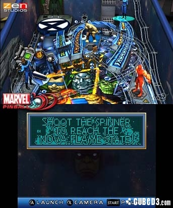 Screenshot for Marvel Pinball 3D on 3DS eShop- on Nintendo Wii U, 3DS games review