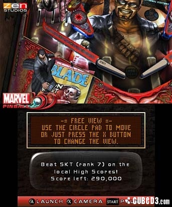 Screenshot for Marvel Pinball 3D on 3DS eShop - on Nintendo Wii U, 3DS games review