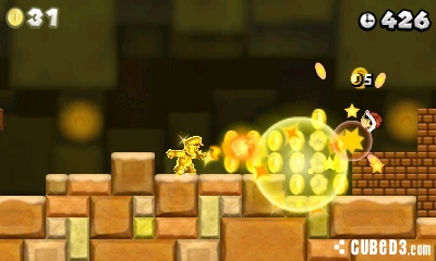 Screenshot for New Super Mario Bros. 2 on Nintendo 3DS- on Nintendo Wii U, 3DS games review