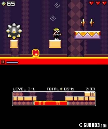 Screenshot for Mutant Mudds on 3DS eShop