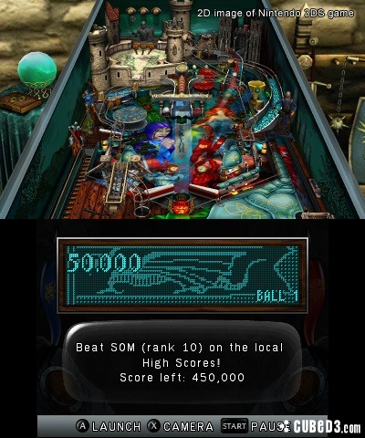 Screenshot for Zen Pinball 3D on 3DS eShop- on Nintendo Wii U, 3DS games review