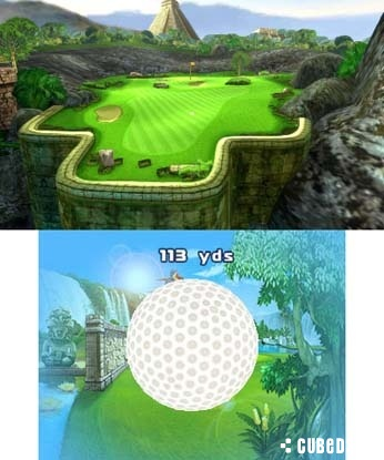 Screenshot for Let's Golf! 3D on 3DS eShop - on Nintendo Wii U, 3DS games review
