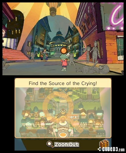 Screenshot for Professor Layton and the Miracle Mask on Nintendo 3DS - on Nintendo Wii U, 3DS games review