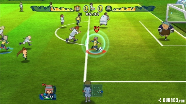Screenshot for Inazuma Eleven Strikers on Wii - on Nintendo Wii U, 3DS games review