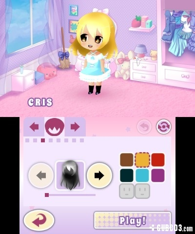 Screenshot for Dress to Play: Cute Witches! on 3DS eShop - on Nintendo Wii U, 3DS games review
