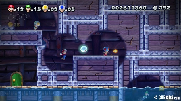 Screenshot for New Super Mario Bros. U on Wii U- on Nintendo Wii U, 3DS games review