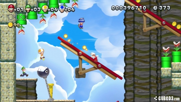 Screenshot for New Super Mario Bros. U on Wii U - on Nintendo Wii U, 3DS games review