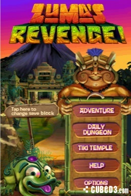 Screenshot for Zuma's Revenge on DSiWare - on Nintendo Wii U, 3DS games review