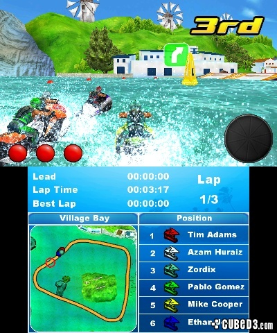 Screenshot for Aqua Moto Racing 3D on 3DS eShop - on Nintendo Wii U, 3DS games review