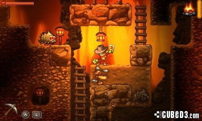 Screenshot for SteamWorld Dig on 3DS eShop- on Nintendo Wii U, 3DS games review
