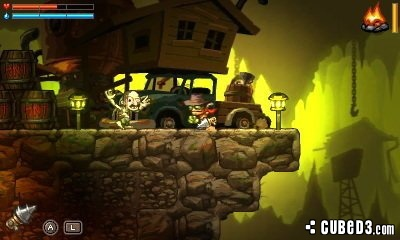 Screenshot for SteamWorld Dig on 3DS eShop - on Nintendo Wii U, 3DS games review