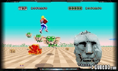 Screenshot for 3D Space Harrier on 3DS eShop - on Nintendo Wii U, 3DS games review