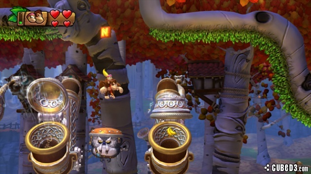 Screenshot for Donkey Kong Country: Tropical Freeze on Wii U- on Nintendo Wii U, 3DS games review