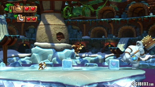 Screenshot for Donkey Kong Country: Tropical Freeze on Wii U - on Nintendo Wii U, 3DS games review