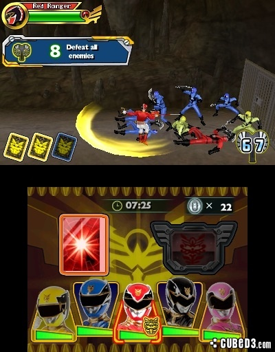 Screenshot for Power Rangers Megaforce on Nintendo 3DS - on Nintendo Wii U, 3DS games review