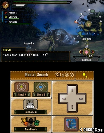 Screenshot for Monster Hunter 3 Ultimate on Nintendo 3DS- on Nintendo Wii U, 3DS games review
