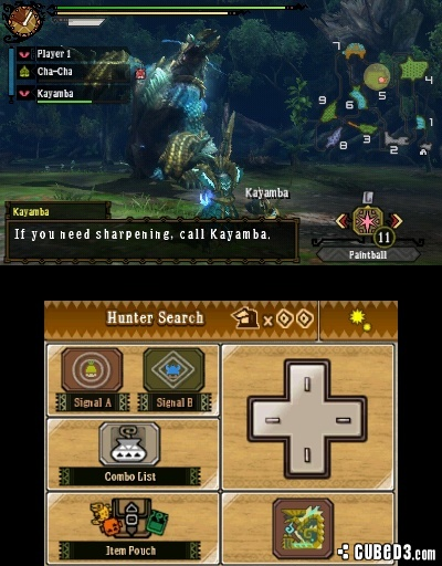 Screenshot for Monster Hunter 3 Ultimate on Nintendo 3DS - on Nintendo Wii U, 3DS games review