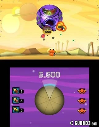 Screenshot for Cocoto Alien Brick Breaker on Nintendo 3DS