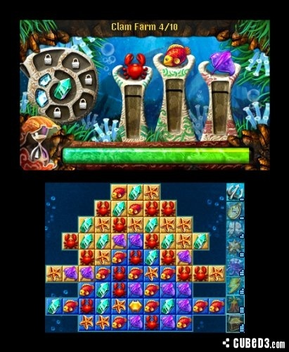Screenshot for Jewel Link: Legends of Atlantis 3D on Nintendo 3DS - on Nintendo Wii U, 3DS games review
