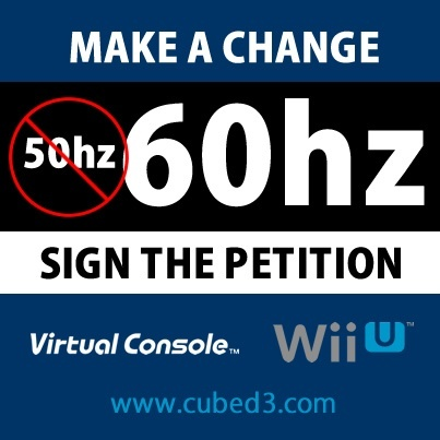 Image for Petition: Nintendo Wii U Virtual Console Games to be Released in 60hz