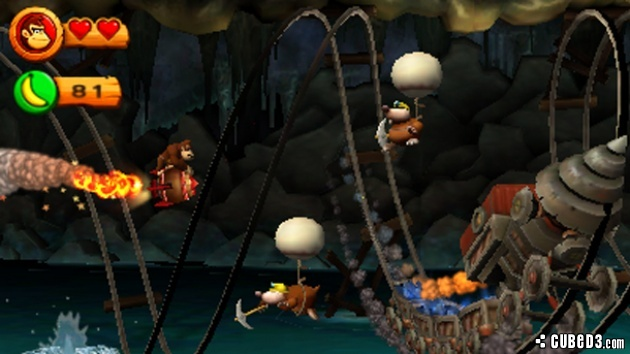 Screenshot for Donkey Kong Country Returns 3D on Nintendo 3DS - on Nintendo Wii U, 3DS games review