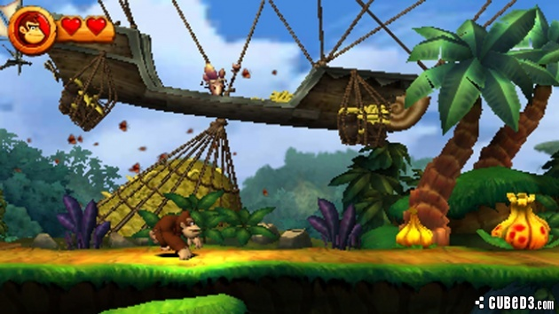 Screenshot for Donkey Kong Country Returns 3D on Nintendo 3DS- on Nintendo Wii U, 3DS games review