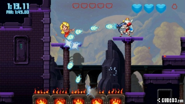 Screenshot for Mighty Switch Force! 2 on Wii U eShop - on Nintendo Wii U, 3DS games review