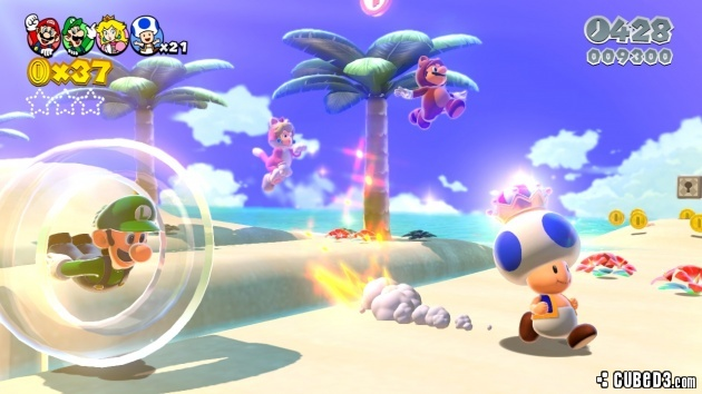 Screenshot for Super Mario 3D World on Wii U - on Nintendo Wii U, 3DS games review