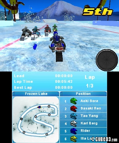 Screenshot for Snow Moto Racing 3D on 3DS eShop - on Nintendo Wii U, 3DS games review