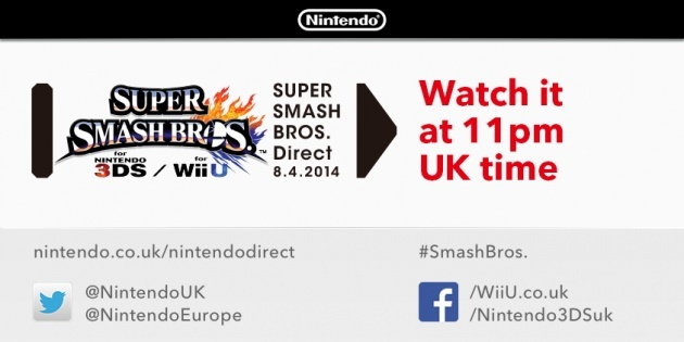 Image for Super Smash Bros Direct Announced for April 8th