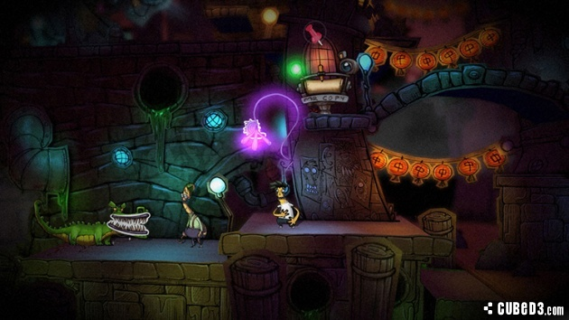 Screenshot for Stick It to the Man on Wii U eShop - on Nintendo Wii U, 3DS games review