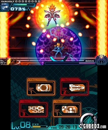 Screenshot for Azure Striker Gunvolt (Hands-On) on Nintendo 3DS