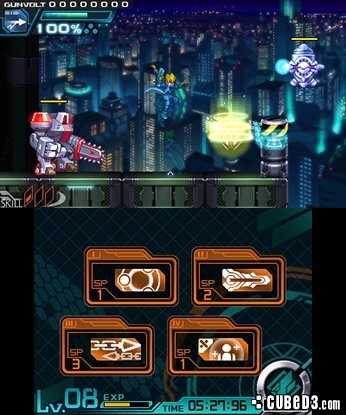 Screenshot for Azure Striker Gunvolt on Nintendo 3DS