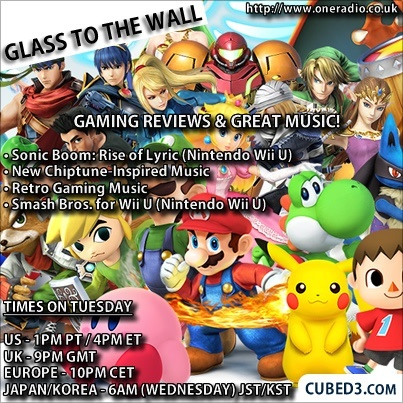 Image for Glass to the Wall Episode 87 - Sonic Boom, Smash Bros. for Wii U & Chiptune Music!