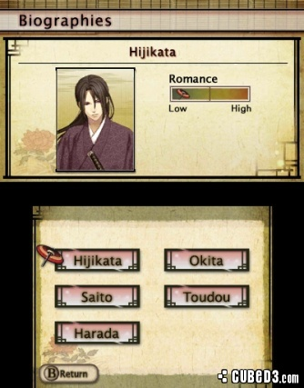 Screenshot for Hakuoki: Memories of the Shinsengumi on Nintendo 3DS - on Nintendo Wii U, 3DS games review