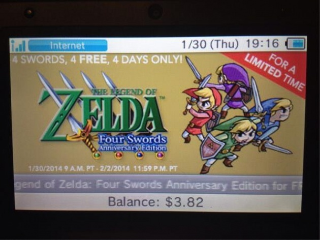 News: Download Zelda: Four Swords For Free on the 3DS eShop Page 1 ...