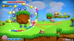 Screenshot for Kirby and the Rainbow Paintbrush - click to enlarge