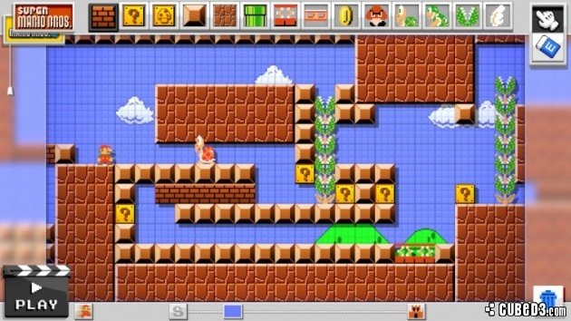 Screenshot for Mario Maker (Hands-On) on Wii U