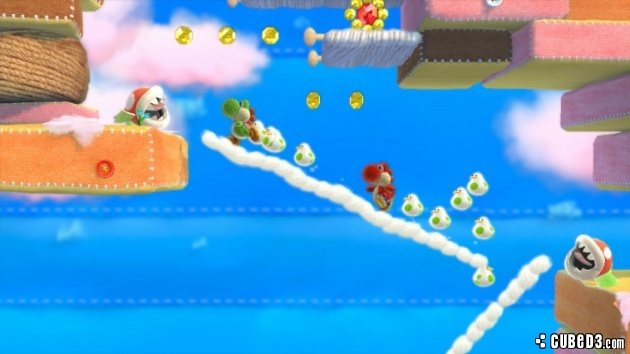 Screenshot for Yoshi's Woolly World (Hands-On) on Wii U