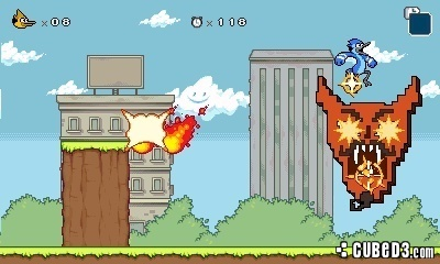 Screenshot for Regular Show: Mordecai and Rigby in 8-Bit Land on Nintendo 3DS