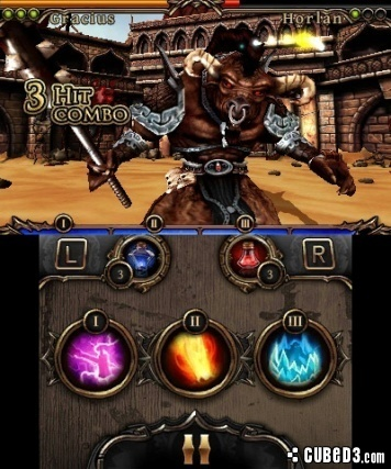 Screenshot for Rage of the Gladiator on 3DS eShop - on Nintendo Wii U, 3DS games review