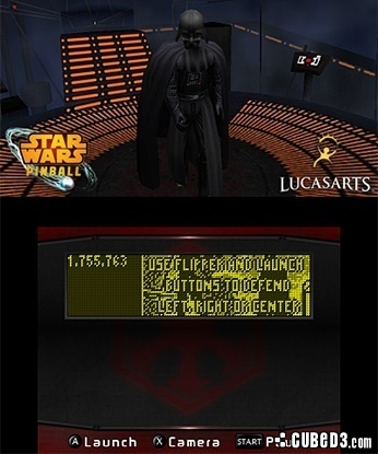 Screenshot for Star Wars Pinball 3D on 3DS eShop - on Nintendo Wii U, 3DS games review