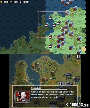 Screenshot for Glory of Generals on Nintendo 3DS