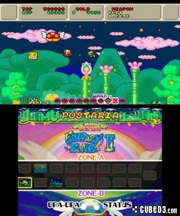 Screenshot for 3D Fantasy Zone II W on Nintendo 3DS