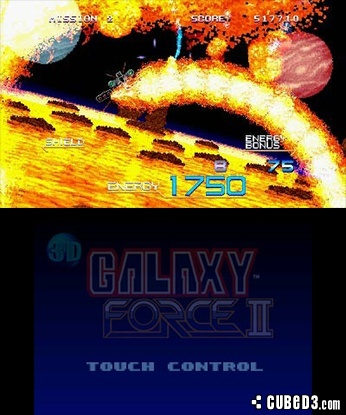 Screenshot for 3D Galaxy Force II on Nintendo 3DS