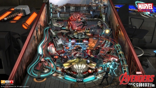 Screenshot for Zen Pinball 2: Marvel's Avengers - Age of Ultron on PlayStation 4