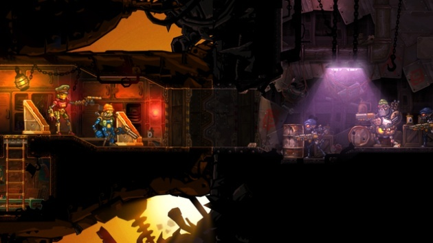 Screenshot for SteamWorld Heist on Nintendo 3DS